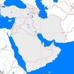 West Asia Outline Map A Learning Family