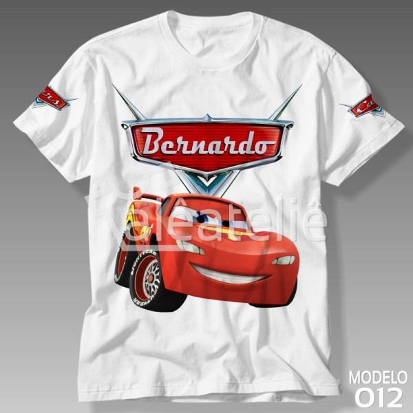 Camiseta Carros Disney Relâmpago Mcqueen
