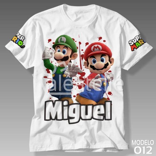 Camiseta Mario Luigi