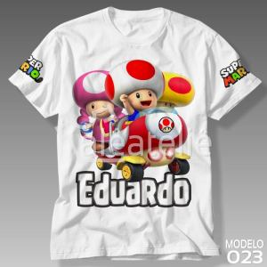 Camiseta Super Mario Toad