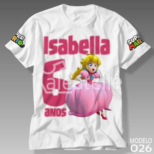 Camiseta Princesa Peach