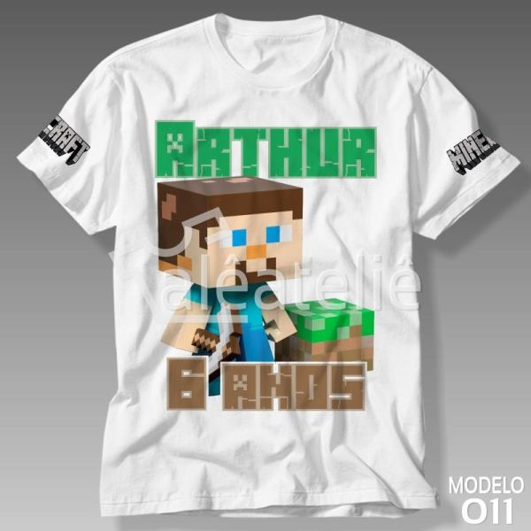 Camiseta Minecraft Aniversário