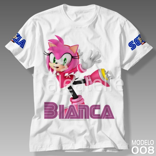 Camiseta Amy Rose Sonic