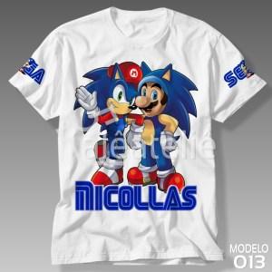 Camiseta Sonic Mario