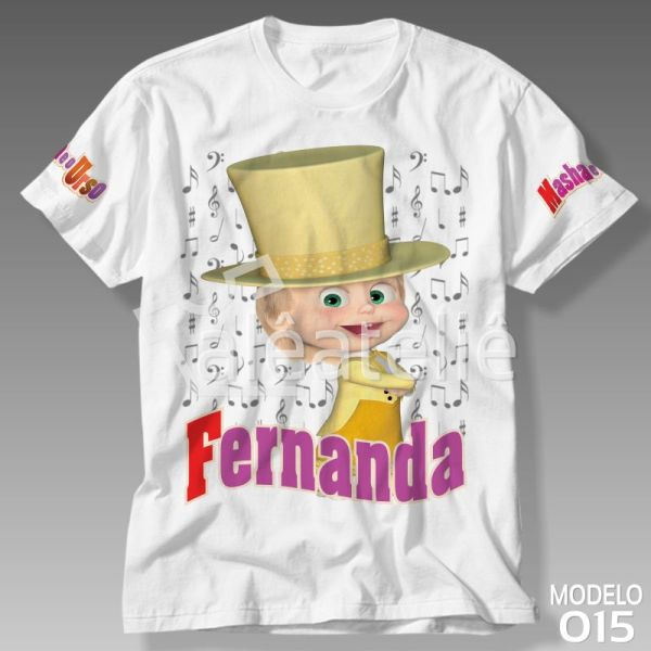 Camiseta Masha Urso Musica