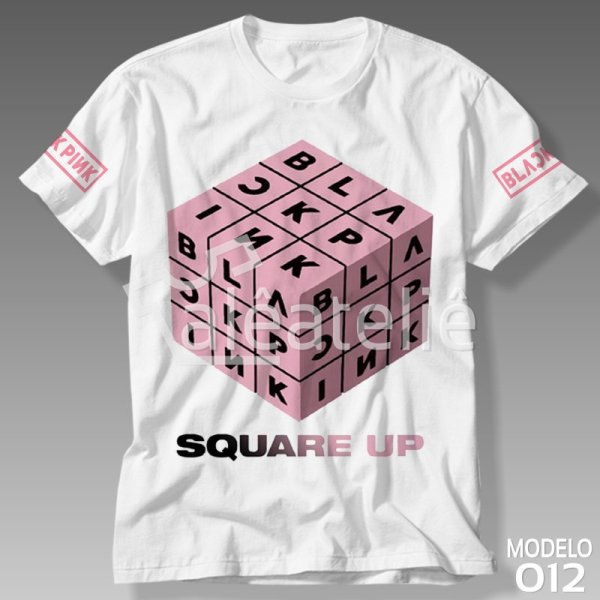 Camiseta Black Pink Square Up