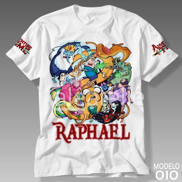 Camiseta Adventure Time Personalizada