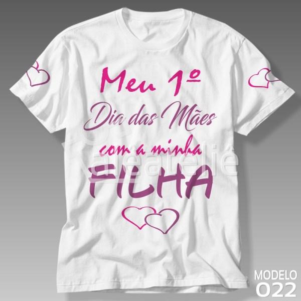 Camiseta Dia das Mães Filha