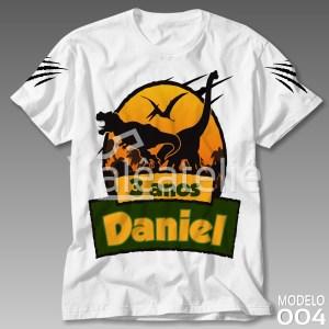 Camiseta Dinossauros Personalizada