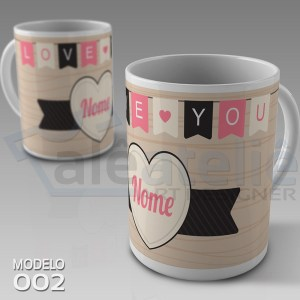 Caneca Namorados Love You
