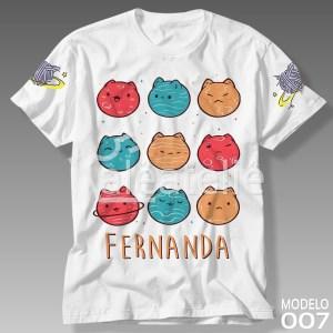 Camiseta Infantil Gato Galáctico
