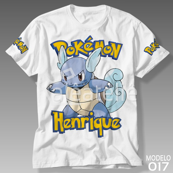 Camiseta Pokemon Wartortle