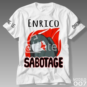 Camiseta Among Us Sabotage