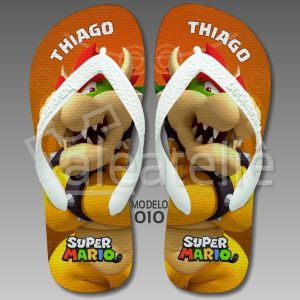 Chinelo Bowser Mario Bros