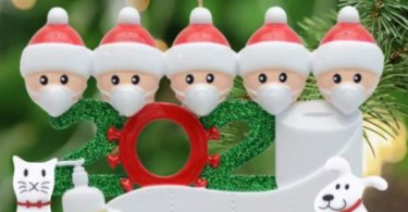 Alea's Deals *HOT* Personalized Quarantine Christmas 2020 Ornament *MADE IN US!* Up to 7 People + Cat & Dog!