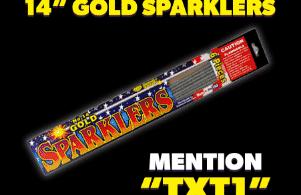 Alea's Deals F.R.E.E 6 Pack of Gold Sparklers at Phantom Fireworks!