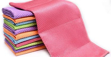 Alea's Deals 50% off Microfiber Cloth Cleaning Rags Dish Cloths Multicolor Pack of 12!