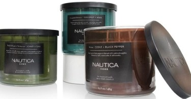Alea's Deals Nautica 3-Piece Candle Set ONLY $25 (Reg $96) + FREE Shipping