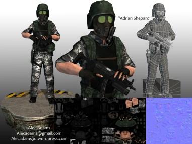 My version of the Half-Life: Opposing Force, Adrian Shepard.
