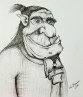 Ink drawing Ogre