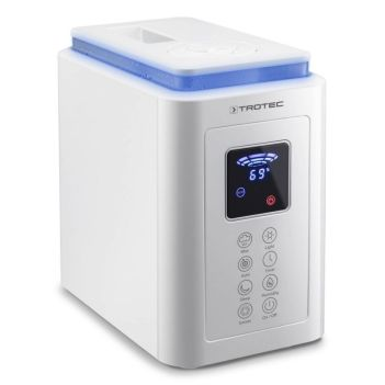 Umidificator cu ultrasunete Trotec B5E, Higrostat, Display, Timer, Ionizare, Functie Sleep, Filtru de aer, Consum 25W/h