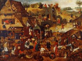Les proverbes Flamands - Brueghel l'Ancien