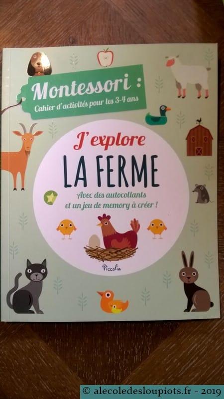 Cahier Montessori