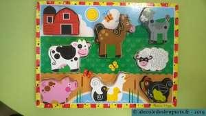 Puzzle animaux de la ferme à la médiathèque