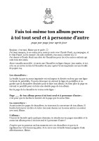 Fais ton album - Claude Ponti - instructions
