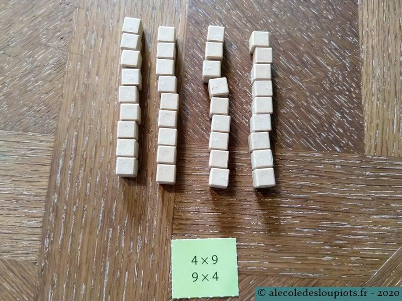 Résultats similaires : 4 x 9 et 6 x 6 avec le matériel Lubienska