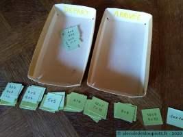 Cartes flash tables de multiplication