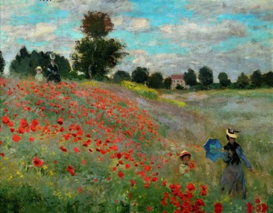 Le champ des coquelicots - Monet