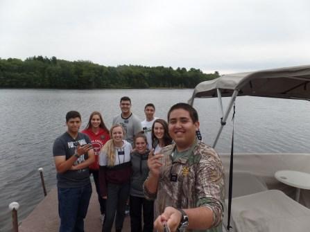 Mormon Missionaries P-Day Fishing at the Lake Boston Mass Mission