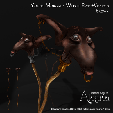 Young Morgana Witch Rat-Weapon Brown