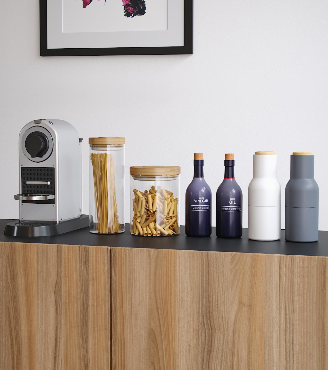 Kitchen Items 3D Model Minipack 001 | Vray & Corona ... on Modern:8-Rtxafges8= Model Kitchen  id=22470