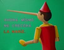 La paradoja (de Pinocho) - 100cmx80cm - 2015 - Técnica: pintura acrílica sobre tela - Por: Alejandro Fidias Fabri