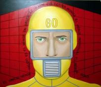 El héroe colectivo - 80x100 cms - 2015 - Técnica: pintura acrílica s/tela - Alejandro Fidias Fabri