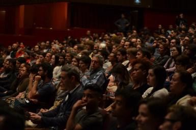 Público en el teatro Pablo Tobón Uribe