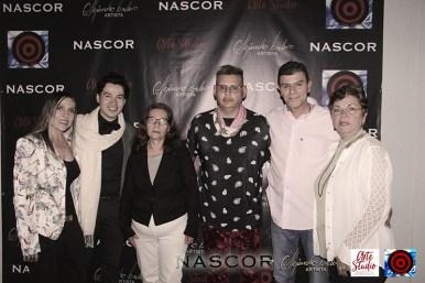 De izquierda a derecha, Isabel Cadavid, Alejandro Londoño, Doris Ruiz, Norman Botero, Alejandro Duque y Luz M. Duque