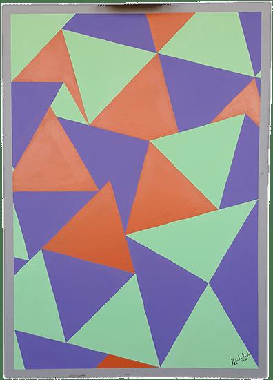 Título: Indicios 2 de 4 Serie: Indicios Técnica: Acrílico sobre cartón Medidas: 50x70cm Artista: Alejandro Londoño Año: 2016