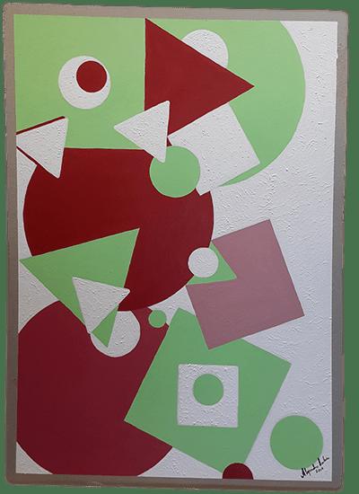 Título: Indicios 3 de 4 Serie: Indicios Técnica: Acrílico sobre cartón Medidas: 50x70cm Artista: Alejandro Londoño Año: 2016