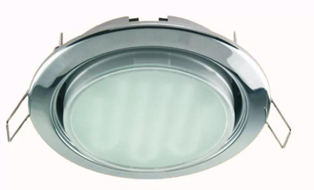 Ecola GX53 (таблетка) Хром + лампа 8 Ватт Image