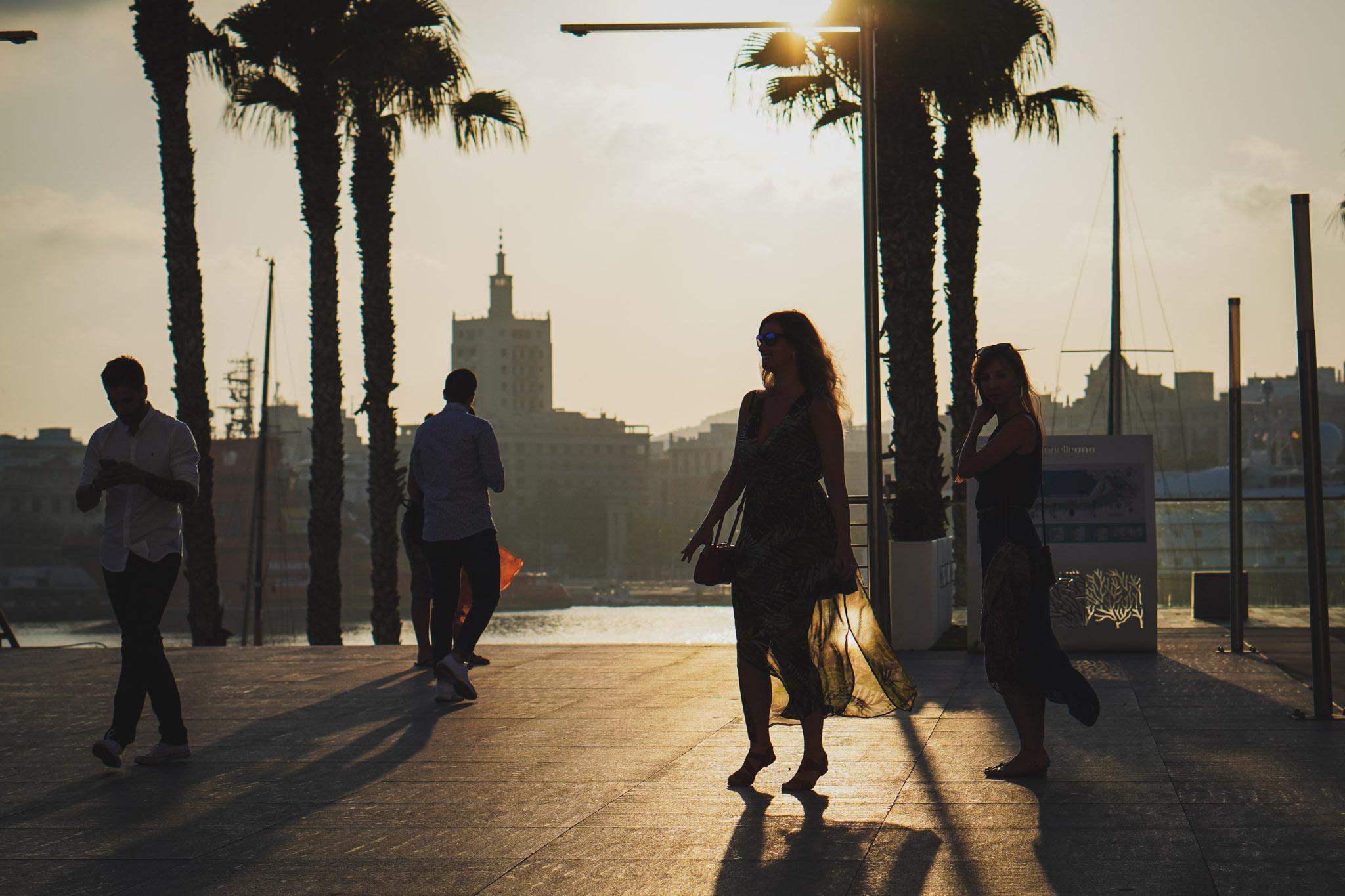 Zachód słońca w Maladze