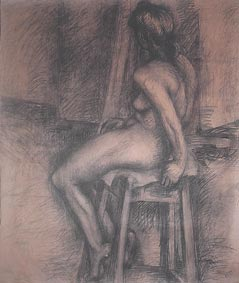 Nude Study by Aleksandra Smiljkovic Vasovic aleksandraartworkcom