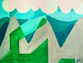 Silver Mountains by Aleksandra Smiljkovic Vasovic aleksandraartworkcom