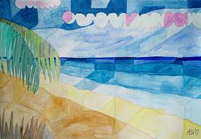 Seascape by Aleksandra Smiljkovic Vasovic aleksandraartworkcom