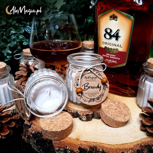 07 / Świeczka Sojowa / Brandy / 60 g / AleMagia.pl