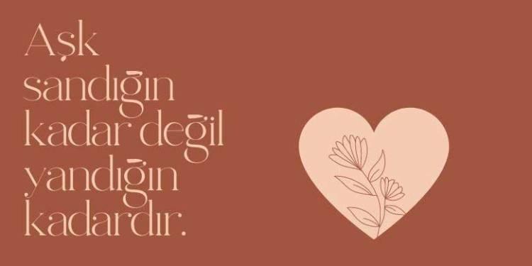 Aşk Sözleri Anlamlı