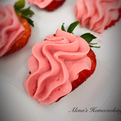 Strawberry Halves with a Cream Cheese topping