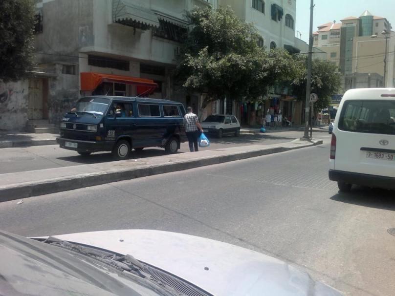 Dans les rues pour la distribution
